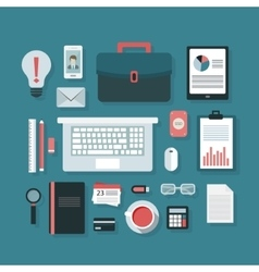 Business workplace vector image vector image