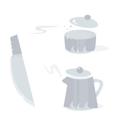 cartoon kitchen tools vector image