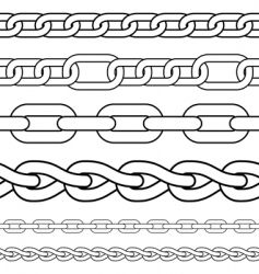 Chain borders vector