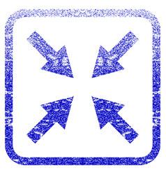 Compress arrows framed textured icon vector