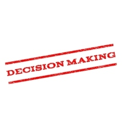Decision making watermark stamp vector