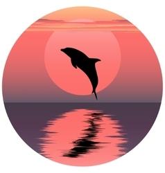 Dolphin jumping dolphin vector