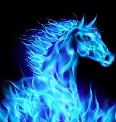 Fair Horse blue 01 vector image