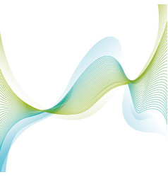 Green waves background vector