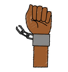 hand human with handcuff vector image