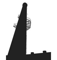 high tower vector image vector image