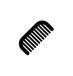 isolated barber tool icon hairbrush vector image vector image