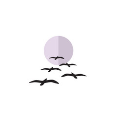 Isolated birds flat icon gull element can vector