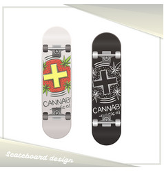 medical marijuana skateboard six vector image vector image