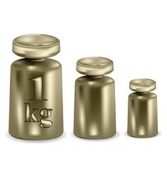 Metal weights vector