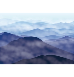 Mountains in fog vector image vector image