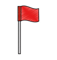 pointer location flag isolated icon vector image