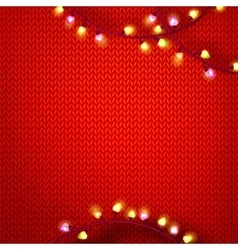 Red kniting with lights vector image vector image