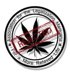 Reject marijuana vector image vector image