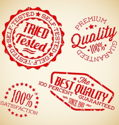 retro vintage stamps vector image vector image
