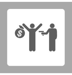 Robbery icon vector