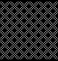 seamless pattern small crosses diagonal grid vector image