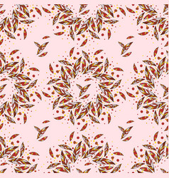 seamless trendy pattern design with leafs vector image