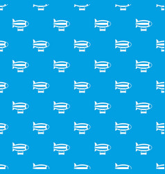 Striped dirigible pattern seamless blue vector