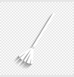 Sweeping broom sign white icon with soft vector
