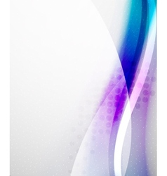 Unusual abstract blue wave template vector image