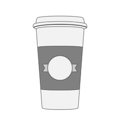 White Cup of Coffee for your Label vector image