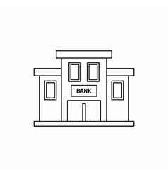 Bank building icon outline style vector