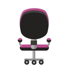 Purple office armchair icon vector