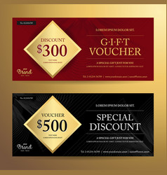 Elegant gift voucher or discount card template vector