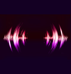 Techno background with crcular sound vibration vector