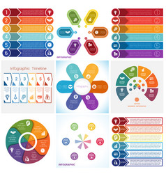 Collections infographics elements template 6 vector