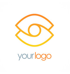 abstract line vision logo vector image