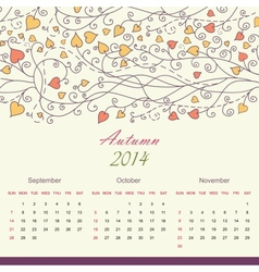 Calender of 2014 year vector