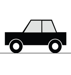 Car simple art for symbol vector