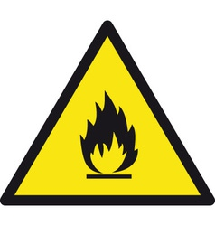 Danger flamable safety sign vector
