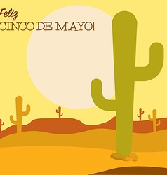 Desert cinco de mayo card in format vector