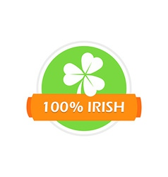 Stamp with Clover Leaf vector image
