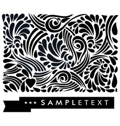 Calligraphic floral design elements vector