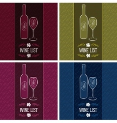 Set of templates for cover menus and wine vector