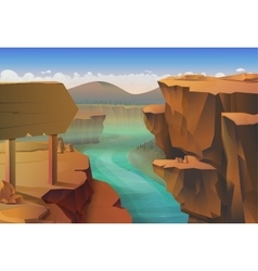 Canyon nature background vector