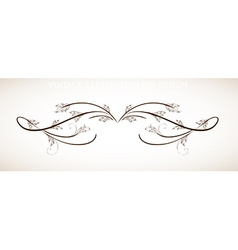 Filigree design vector
