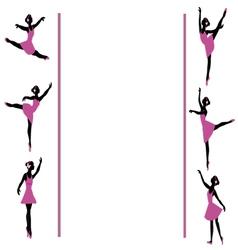 Ballerinas dancing frame vector
