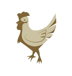 Chicken icon animal farm design graphic vector