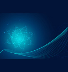 abstract blue hitech technology background vector image