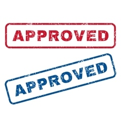Approved rubber stamps vector