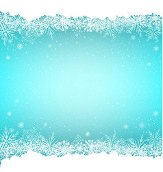 blue snow and snoweflakes background vector image vector image