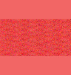 bright knitted texture on red background vector image vector image