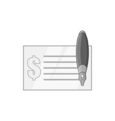 Checkbook icon black monochrome style vector image