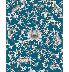 Chinese pattern on blue background vector