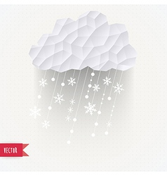 cloud with snowfall winter background made of vector image vector image